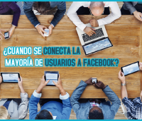 ¿Cuando se conecta la mayoría de usuarios a Facebook?